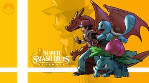 Charizard Pokemon Ivysaur Pokemon Pokemon Trainer Squirtle Pokemon Super Smash Bros Ultimate 3266x1837 Wallpaper