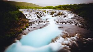 Bruarfoss Waterfall Iceland Nature Waterfall 5320x3547 Wallpaper