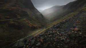 Nature Driving Fall Mountains Mist 1500x844 wallpaper