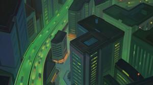 Igor Artyomenko Artwork Landscape Hacking Digital Painting Digital Art Bicycle City City Lights Oran 2787x10000 Wallpaper