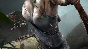 Lara Croft Tomb Raider Video Games Video Game Girls Brunette Ponytail Bow Arrows Dirty Parted Lips N 2339x3508 Wallpaper