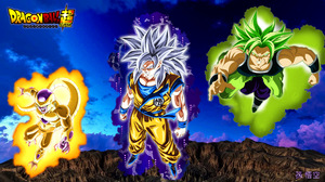 Goku Broly Dragon Ball Frieza Dragon Ball Super Saiyan Blue Super Saiyan Green Golden Frieza 1920x1080 wallpaper