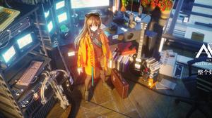 Pang Zaizhi Science Fiction Anime Anime Girls High Angle 4700x2000 Wallpaper