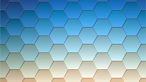Artistic Blue Digital Art Hexagon Pattern 2880x1800 Wallpaper