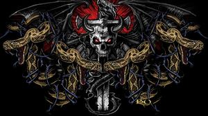 Chain Dark Fantasy Skull Snake Sword 1920x1440 Wallpaper