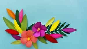 Colorful Colors Flower Leaf 4096x2876 wallpaper