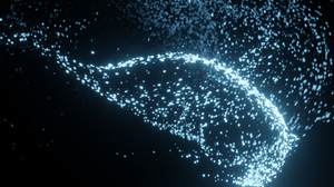 CGi Floating Particles Dark Blender 3D Abstract 2560x1080 Wallpaper