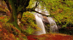 Fall Waterfall 1920x1200 wallpaper