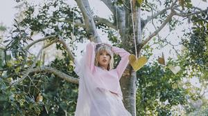 Taylor Swift Women Singer Blonde Blue Eyes Long Hair Nature Arms Up Trees 1800x1200 Wallpaper
