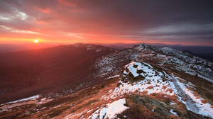 Pruchnicki Mirek Sunset Landscape Winter Snowy Peak Snowy Mountain Mountains Hills Sky Photography O 1800x1200 Wallpaper