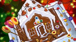Christmas Christmas Lights Gingerbread 2560x1670 Wallpaper