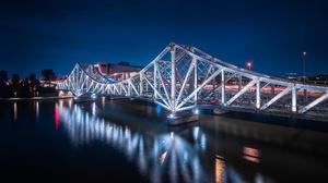 Bridge France Night Reflection 2048x1196 Wallpaper