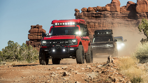 Ford Bronco Ford Car Vehicle Desert Off Road Dirt Road Red Cars Black Cars 3840x2160 Wallpaper