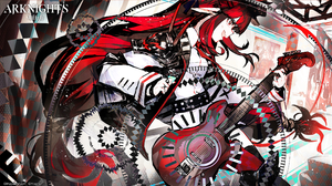 Anime Anime Girls Nmuri Arknights Vigna Arknights Guitar Stages 2365x1331 Wallpaper