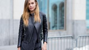 Blonde Danish Depth Of Field Josephine Skriver Leather Jacket Model 3000x2000 Wallpaper