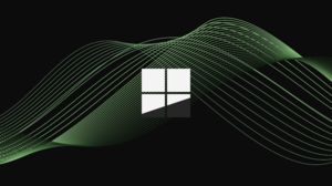 Logo Windows Logo Microsoft Lines Waveforms Simple Background Black Green Dystopian 4500x3000 Wallpaper