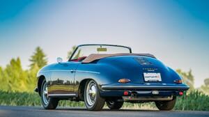 Porsche 356b 1600s Roadster Sport Car Old Car Blue Car Car 2048x1152 Wallpaper