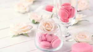Flower Macaron Rose Still Life 7288x4868 Wallpaper