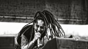 Tatyana Shmayluk Jinjer Monochrome Dreadlocks Singer Music T Shirt 1920x1080 wallpaper