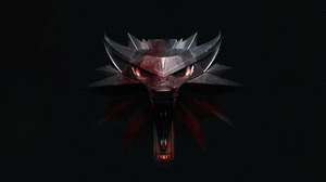 The Witcher Logo Wolf Steel Open Mouth Fangs Dark Scars The Witcher 3 The Witcher 3 Wild Hunt 3640x2048 Wallpaper