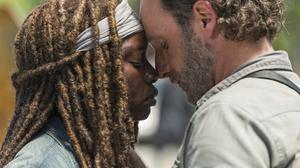 Andrew Lincoln Danai Gurira Michonne The Walking Dead Rick Grimes 4500x3000 wallpaper