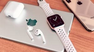 Apple Airpods Apple Inc Apple Watch Ipad Iphone 6720x4480 Wallpaper