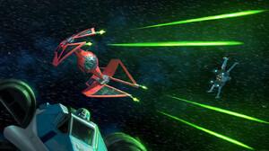 Star Wars Darren Tan X Wing Science Fiction Artwork Star Wars Ships Vehicle TiE Interceptor 1800x900 wallpaper