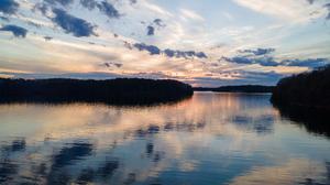 Sunset Lake Lanier Water Forest 3840x2880 Wallpaper