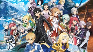 Alice Zuberg Asuna Yuuki Eugeo Sword Art Online Kirito Sword Art Online Leafa Sword Art Online Phili 2985x2109 Wallpaper