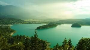Austria Lake Mountain 2448x1600 Wallpaper