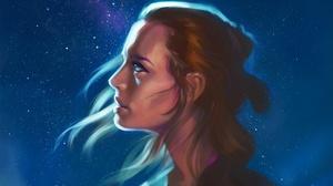 Blue Eyes Brown Hair Face Girl Rey Star Wars Star Wars 2200x1469 Wallpaper