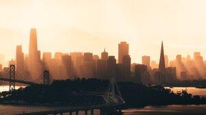 City Cityscape Skyscraper Sunset Bridge San Francisco 2048x1366 Wallpaper