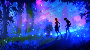 Fantasy Light Night Tree 1962x1080 Wallpaper