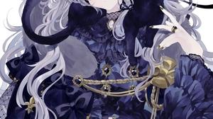 Anime Girls Cat Girl Cats Remimim Animal Ears Silver Hair Heterochromia Dress 942x1440 Wallpaper