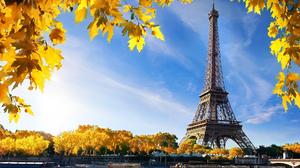 Eiffel Tower Fall France Paris 1920x1200 wallpaper
