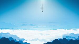 Gavryl Digital Art Clouds Clear Sky Blue 1920x922 Wallpaper