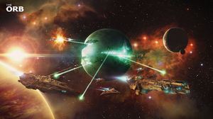 Planet Stars Nebula Dreadnaught Laser Space 3840x2160 Wallpaper