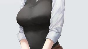 Kaguya Sama Love Is War School Uniform Blonde Blue Eyes Barefoot JK Blushing Bangs Looking At Viewer 1807x3402 Wallpaper
