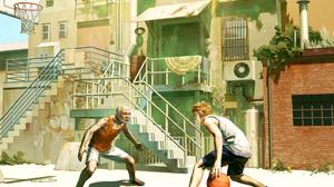 Man Basketball Stairs 1920x1440 Wallpaper