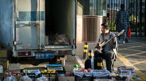 People Bass Guitars Men Musical Instrument Food Truck Asia 5686x4000 Wallpaper