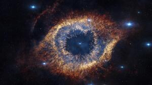 Helix Nebula Space Stars 3840x2160 wallpaper