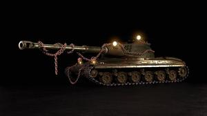 60TP 60TP The Marauder Tank Cold War Rust Chains Metal Skull Lights 3D CGi Fictional War Military 2560x1440 Wallpaper