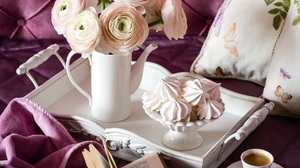 Book Coffee Flower Meringue Kisses Ranuncula 2400x1816 Wallpaper