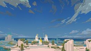 Antiquewhite Anime 4096x2175 Wallpaper