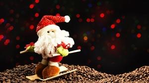 Santa Coffee Beans 6016x4016 Wallpaper
