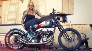 Tattoo Motorcycle Blonde 3840x2160 wallpaper