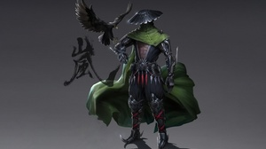 Crow Cyborg Ninja Warrior 2710x1660 Wallpaper