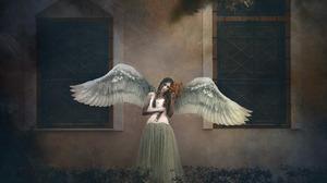 Angel Window Wings 2014x1280 Wallpaper