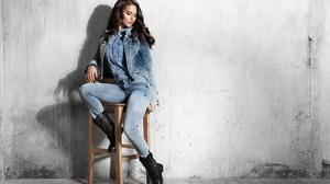 Woman Girl Brunette Boots 5616x3904 Wallpaper