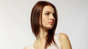 Brown Eyes Girl Model Mood Redhead Woman 3840x2160 Wallpaper